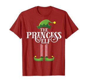 Princess Cute Elf Matching Family Group Christmas Party PJ T-Shirt