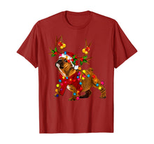 Load image into Gallery viewer, Santa bulldog gorgeous reindeer Light Christmas T-Shirt