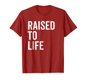 Raised To Life Shirt Christian Baptism New Believer Gift Tee