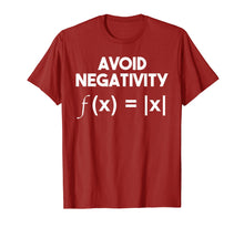 Load image into Gallery viewer, Avoid Negativity: Funny Math Problem, Engineer Tee Shirt