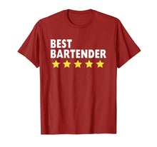 Load image into Gallery viewer, Best Bartender T-Shirts For Women Men 5 Star Gifts Tee Shirt