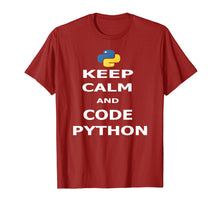 Load image into Gallery viewer, Keep Calm and Code Python T-Shirt