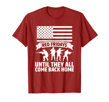 Load image into Gallery viewer, On Friday We Wear Red Fridays Military Shirts Military Gifts