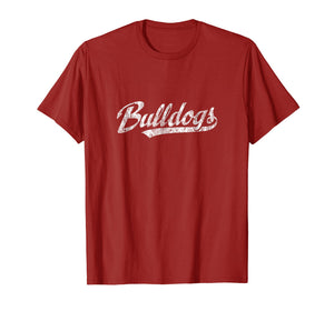 Bulldogs Mascot T Shirt Vintage Sports Name Tee Design