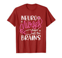 Load image into Gallery viewer, neuro nurses have all the brains Shirt RN Neurologist TShirt