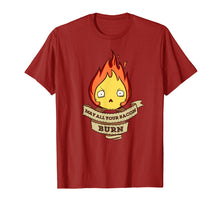 Load image into Gallery viewer, May All Your Bacon Burn Scary Fire Demon T-Shirt