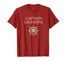 Load image into Gallery viewer, Captain Grandpa! Funny Boating & Sailing T-Shirts