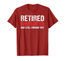 Load image into Gallery viewer, Retired Firefighter Fireman Retirement Party Gift Tee Shirt