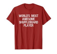 Load image into Gallery viewer, Shuffleboard T-shirt - Funny Awesome Shuffleboard Player