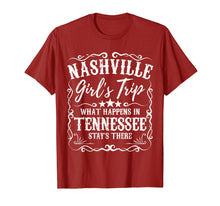 Load image into Gallery viewer, Nashville Girls Trip T Shirt Weekend Bachelorette Party Gift