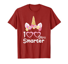 Load image into Gallery viewer, 100 Days of School Shirt Unicorn Girls Costume Gift Tee