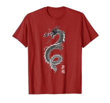 Load image into Gallery viewer, Chinese Dragon Gift T Shirt, Asian Dragon Art, Dk