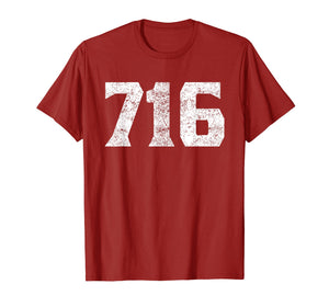 716 Area Code Buffalo NY Graphic T-Shirt