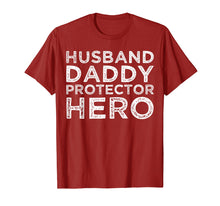 Load image into Gallery viewer, Mens Husband Daddy Protector Hero Shirt Dad Gifts Tshirts