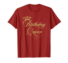 Load image into Gallery viewer, Birthday Queen T-Shirt - Elegant Crown Design