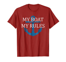Load image into Gallery viewer, My BOAT My RULES TSHIRT | Funny Captain T shirt boating tee
