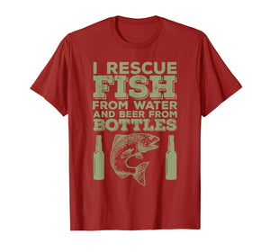 Beer Drinking & Fishing Funny Hobby T-Shirt