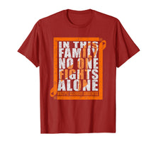 Load image into Gallery viewer, No One Fights Alone MS Multiple Sclerosis Awareness T-shirt