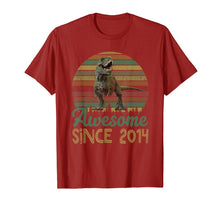 Load image into Gallery viewer, 5th Birthday Gift Shirt Dinosaur 5 Year Old Tshirt