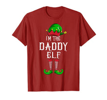 Load image into Gallery viewer, Mens I'm The Daddy Elf Matching Family Group Funny Christmas Top T-Shirt
