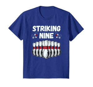 Kids Bowling 9 Nine Year Old Birthday Party 9th Birthday T-Shirt
