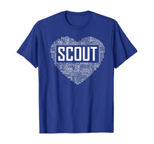 Load image into Gallery viewer, Proud Scout Heart Scouting Leader Gift T-Shirt