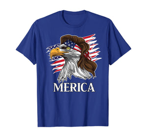 Patriotic Mullet Eagle Merica American Flag 4th of July Tee T-Shirt