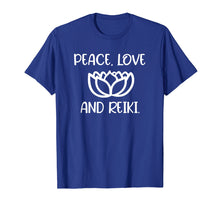 Load image into Gallery viewer, Lotus Peace Love Reiki T-shirts. Cool Style Tees
