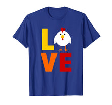 Load image into Gallery viewer, Love Chicken T-Shirt Colorful Farm TShirt