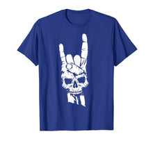 Load image into Gallery viewer, Skull Sign Of The Horns Shirt | Cute Rock On T-shirt Gift