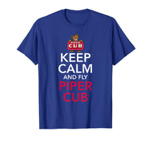 Load image into Gallery viewer, Keep Calm and Fly Piper Cub Aviation T-Shirt