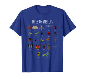 Bug T-Shirt - Bug Identification Types Of Insects Tee