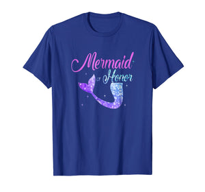 Mermaid Of Honor Maid Bridesmaid Tshirt Mother's Day Gift