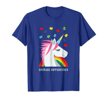 Load image into Gallery viewer, Autism Awareness Shirt Women Youth Men Unicorn Puzzle Piece