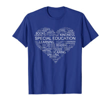 Load image into Gallery viewer, Special Education Teacher Word Heart T-Shirt Funny