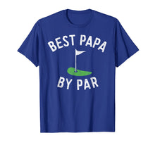 Load image into Gallery viewer, Mens Best Papa By Par Funny Golf Shirt Father's Day Grandpa Gift