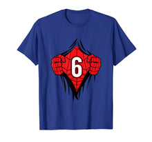 Load image into Gallery viewer, Boys Superhero Comic Birthday Shirt 6 Year Old Cartoon