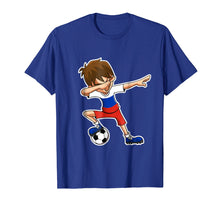 Load image into Gallery viewer, Dabbing Soccer Boy Russia Shirt, Russian Flag Jersey
