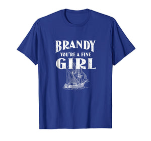 Brandy You're A Fine Girl Distressed Sailor Tshirt