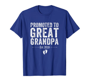 Promoted to Great Grandpa Shirt 2019 Pregnancy Announcement