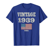 Load image into Gallery viewer, 80th Birthday Gift Vintage USA Flag 1939 T-shirt Design