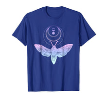 Load image into Gallery viewer, Moth And Crescent Moon T-Shirt, Witchy Pastel Goth Shirt