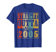 Load image into Gallery viewer, Retro Straight Outta May 2005 14th Birthday Gift T Shirt
