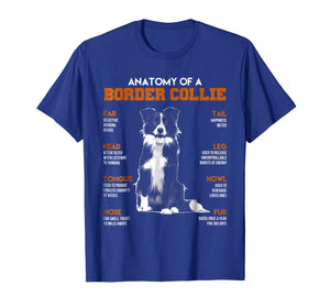 Anatomy Of A Border Collie Dogs T Shirt Funny Gift