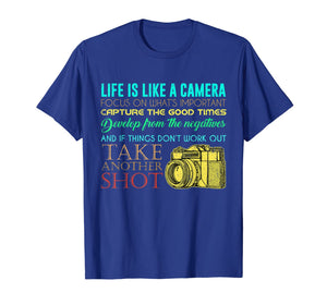 Photography Life Is Like A Camera Photographer Gift T-Shirt