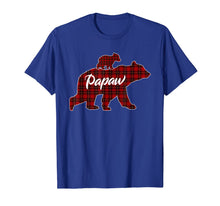 Load image into Gallery viewer, Red Plaid Papaw Bear Buffalo Matching Family Pajama T-Shirt