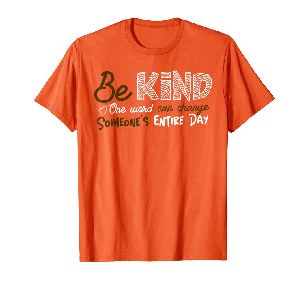 Be Kind Anti-Bully Orange Tshirt Unity Day Anti-Bullying  T-Shirt