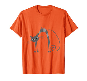 Angry Cat Kitten Kitty Whiskers Meow Funny Humorous T-Shirt