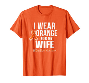 Kidney Cancer Shirt I Wear Orange for My Wife Awareness