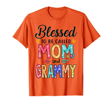 Load image into Gallery viewer, Blessed To Be Called Mom And Grammy Flower T-Shirt T-Shirt